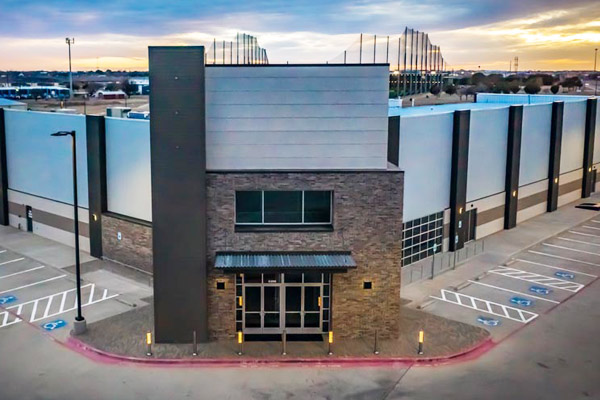 Commercial electrical contractor work at Lubbock area church.