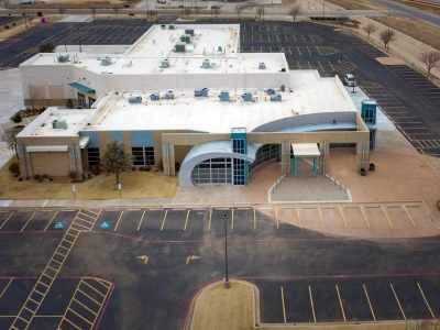 Aerial view of Hillside Church, a commercial eletrical customer of Lubbock Elite Lubbock.