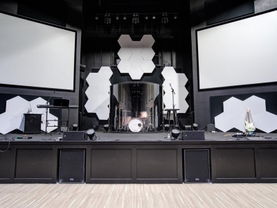 Highly specialized commercial auditorium electrical and lighting work in Lubbock church, with features for stage area.