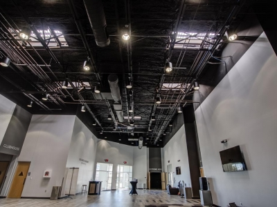 Highly specialized conduit, commercial electrical and lighting work in Lubbock church, illustrating LED lighting.