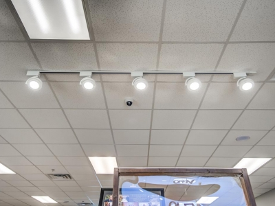 Commercial speciality lighting and electrical service in Lubbock beverage establishment.