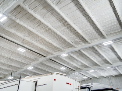 Commercial electrical work and LED lighting at RV yard, in Lubbock, Texas.