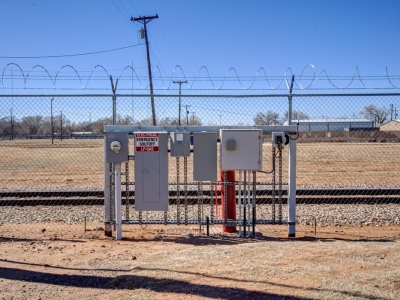 Commercial exterior electrical control and shutoff at Lubbock industrial provider with specialty electrical work, control panels and conduits.