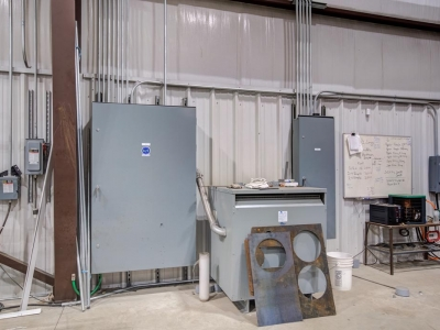 MegaFab LPG Servcies commercial electrical panels and conduit work.