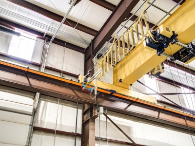 Industrial-grade commercial electrical work for overhead crane, installed by Lubbock Elite Electric.