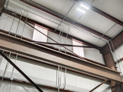 Industrial-grade commercial electrical work for workshop plant, installed by Lubbock Elite Electric.