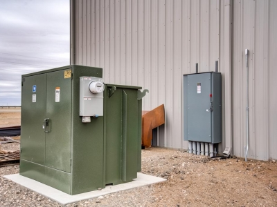 Exterior industrial commercial electrical installation by Lubbock Elite Electric.