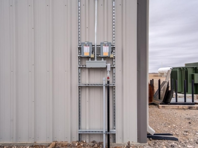 Industrial-grade exterior commercial electrical work for plant, installed by Lubbock Elite Electric.